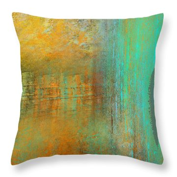 The Waterfall Throw Pillow by Jessica Wright