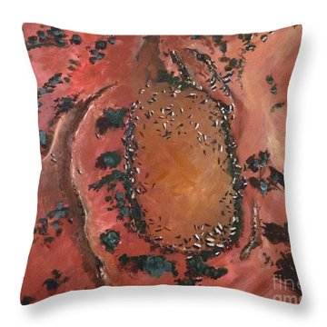 The Watering Hole - Original Sold Throw Pillow