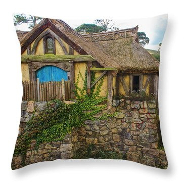 The Watermill, Bag End, The Shire Throw Pillow