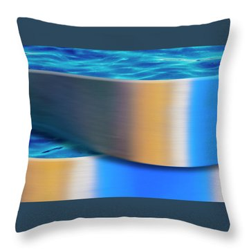 Throw Pillow featuring the photograph The Waters Edge by Paul Wear