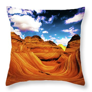 Throw Pillow featuring the photograph The Wave Arizona Light by Norman Hall