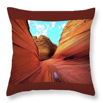 Throw Pillow featuring the photograph The Wave Arizona by Norman Hall