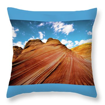 Throw Pillow featuring the photograph The Wave Arizona Rocks by Norman Hall