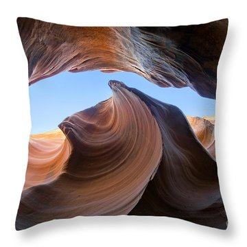 The Wave Of Antelope Canyon Throw Pillow by Martin Konopacki