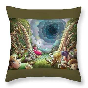 The Wave Of Space And Time Throw Pillow