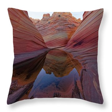 Throw Pillow featuring the photograph The Wave Reflection by Jonathan Davison