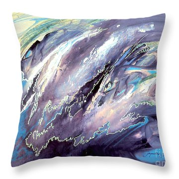 The Wave That Never Crashes Throw Pillow
