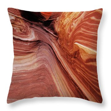 Throw Pillow featuring the photograph The Wave Trail by Norman Hall