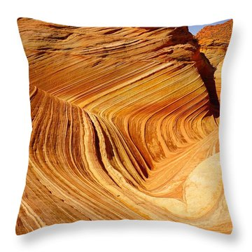 The Side Wave Throw Pillow