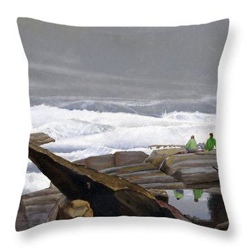 The Wave Watchers Throw Pillow