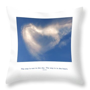 Throw Pillow featuring the photograph The Way Is In The Heart by Kristen Fox