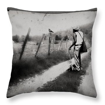 Throw Pillow featuring the photograph The Way Of The Crow by Gray  Artus