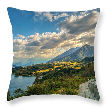 The Way To Glenorchy Throw Pillow