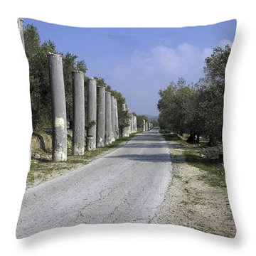 The Way To Sebastia Throw Pillow by Isam Awad