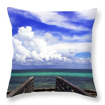 The Way To The Beach 2 Throw Pillow by Susanne Van Hulst