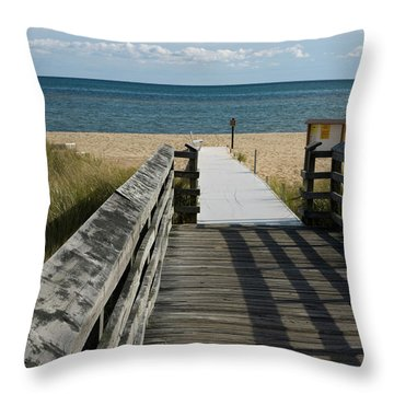 Throw Pillow featuring the photograph The Way To The Beach by Tara Lynn