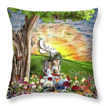 The Weary Warrior  Throw Pillow by Dolores Develde