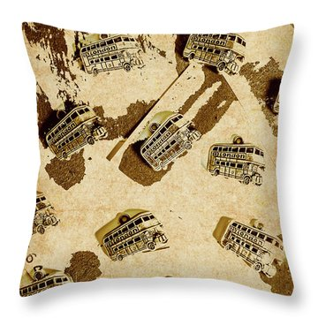 The Weathered Downtown Throw Pillow