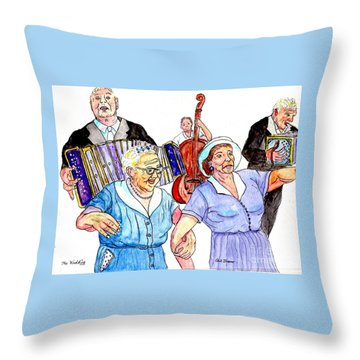 The Wedding - Life On The Stoop Throw Pillow