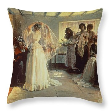 The Wedding Morning Throw Pillow