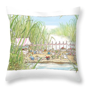 The Wedding Party Throw Pillow by Brambly Hedge