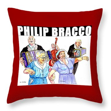 The Wedding Throw Pillow by Philip Bracco