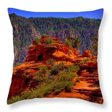 The Wedding Rock In Sedona Throw Pillow