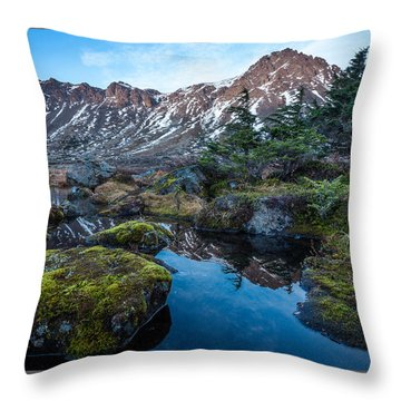 Throw Pillow featuring the photograph The Wedge In Late Autumn by Tim Newton