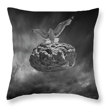Throw Pillow featuring the photograph The Weight Is Lifted by Randall Nyhof