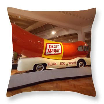 The Weinermobile 1 Throw Pillow