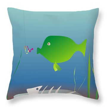 The Well-fed Do Not Understand The Hungry Throw Pillow by Michal Boubin