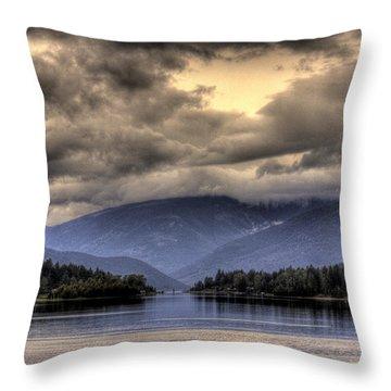 The West Arm Of Kootenai Lake Throw Pillow