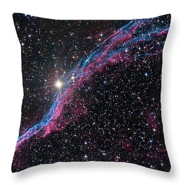 The Western Veil Nebula Throw Pillow by Roth Ritter