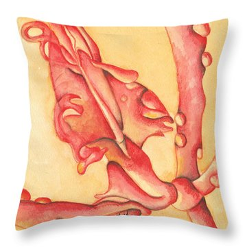 The Wet Dragon Throw Pillow
