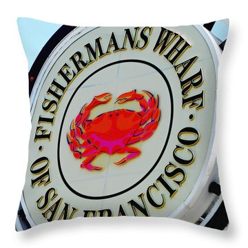 Throw Pillow featuring the photograph The Wharf by Maggy Marsh