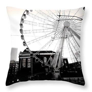 The Wheel Black And White Throw Pillow