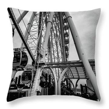 The Wheel Seattle  Throw Pillow