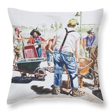 The Wheelsbarrow Band Throw Pillow