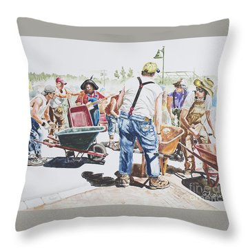The Wheelsbarrow Band Throw Pillow