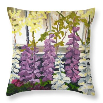 The Whirling Dervishes Of Allan Gardens Throw Pillow by Diane Arlitt