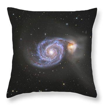 The Whirlpool Galaxy Throw Pillow