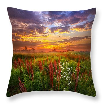 The Whispered Voice Within Throw Pillow
