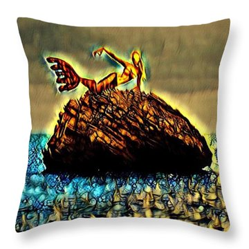 The Whisperer Throw Pillow by Vennie Kocsis