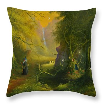 The Whispering Wood Throw Pillow