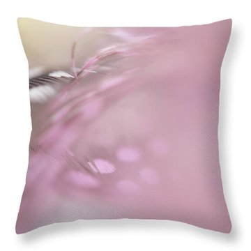 Throw Pillow featuring the photograph The Whispers In The Morning. Angelic Series  by Jenny Rainbow