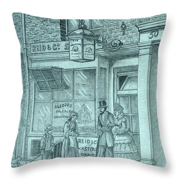 The Whistling Oyster Throw Pillow