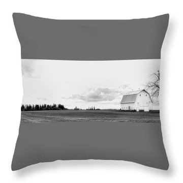 The White Barn Throw Pillow by Rebecca Cozart
