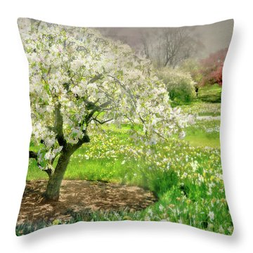 Throw Pillow featuring the photograph The White Canopy by Diana Angstadt