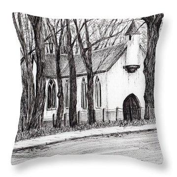 The White Chapel Throw Pillow