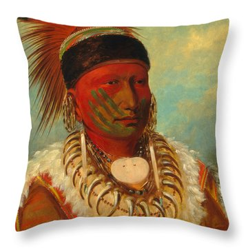 The White Cloud, Head Chief Of The Iowas Throw Pillow